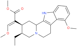 File:(E)-2--(2S,3S)-3-ethyl-8-methoxy-1,2,3,4,6,7,12,12b- octahydroindolo-3,2-h-quinolizin-2-yl--3- methoxyprop-2-enoic acid methyl ester.png