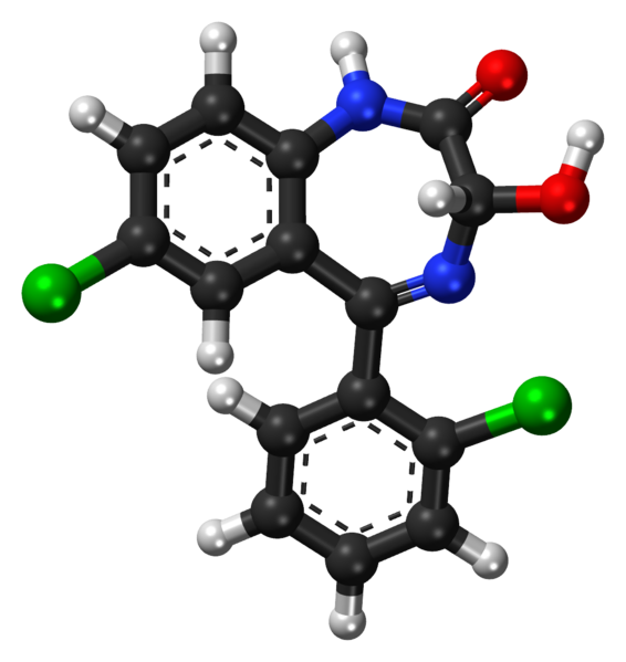 File:Lorazepam ball-and-stick model.png