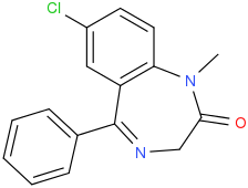 File:7-Chloro-1-methyl-5-phenyl-3H-1,4-benzodiazepin-2-one.png
