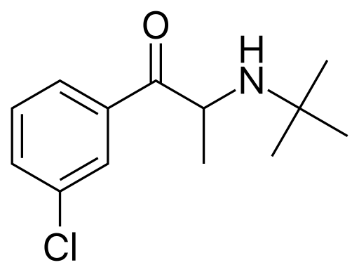 File:Bupropion 2D, not standardized or colored.png
