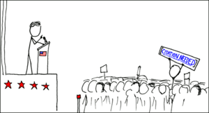 Innovative application for the template in xkcd 285 (Wikipedian Protester)